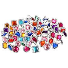 gem rings images Shappy 72 pieces plastic colorful rhinestone gem rings jpg