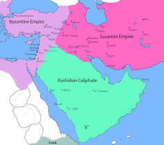Middle East Region Map by Muslim Conquest Of Persia Wikipedia