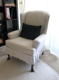 white wing chair slipcover white wingback chair slipcovers white chair slipcover awesome best