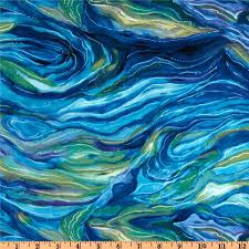 north american wildlife abstract ocean from fabricdotcom designed