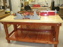 Boys Wooden Tool Bench Garage Workbench Step By Diy Wood Garage Work Bench The Outdoor
