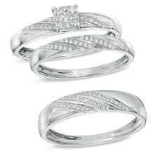 his and hers wedding ring sets walmart wedding rings sets trio wedding ring sets his and hers