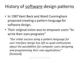 pattern language of program design programming in the large with design patterns ppt download