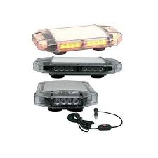 amber mini light bar 24w led emergency vehicle towing truck strobe warning mini light bar