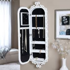 Jewelry Box Mirror Stand Armoire Awesome Hanging Jewelry Armoire Ideas Wall Mounted