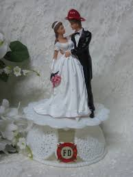 fireman wedding cake toppers wedding cake toppers and groom wedding cake topper