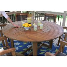 lazy susan dining table round eucalyptus 63 lazy susan dining table 20663 the outdoor
