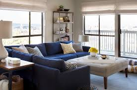 Navy Table L Modern Navy Blue Sectional Living Room Contemporary With L Shaped