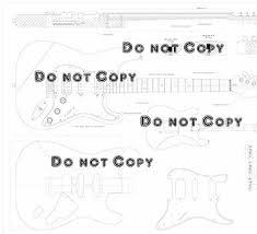buy set of 2 guitar plans fender stratocaster hss and ibanez