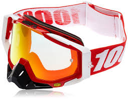 100 motocross goggles amazon com 100 unisex goggle fire mirror red one size