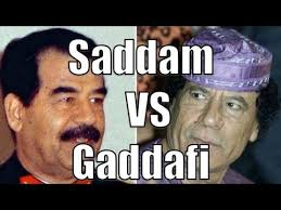 Gaddafi Meme - saddam vs gaddafi difference between saddam and gaddafi youtube