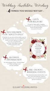 wedding invitation wording wedding invitation wording 4 things you should not say