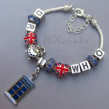 european silver charm bracelet images Doctor who time lord companion european charm bracelet w blue jpg