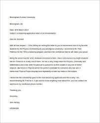 sample letter of recommendation for a student 8 examples in