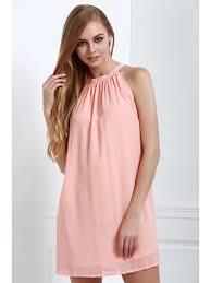 light pink halter dress solid color loose fitting halter neck dress light pink dresses 2018