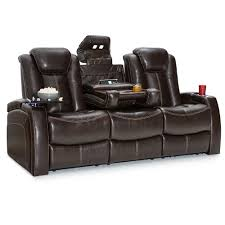 Power Recline Sofa Seatcraft Republic Leather Home Theater Seating Power Recline Sofa