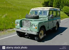 green station wagon land rover series 3 109 station wagon lwb 4cyl petrol stock photo