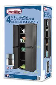 sterilite 4 shelf cabinet flat gray sterilite 01423v01 4 shelf cabinet flat gray cabinet w black