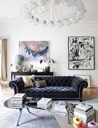 canape chesterfield velours design interieur ambiance salon chic canapé chesterfield velours
