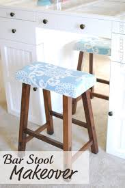 How To Reupholster A Bar Stool Upholstered Stools Bar Stool Makeover Upholstered Stool And Bar