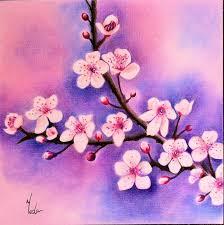 Beautiful Flowers Cherry Blossoms Original Coloured Pencil Art Beautiful Flowers