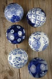light blue decorative balls decorative porcelain balls set of 6