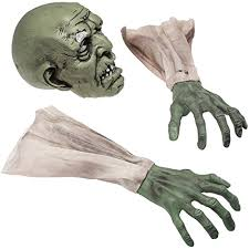amazon com prextex halloween zombie face and arms lawn stakes for