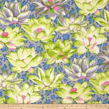 kaffe fassett home decor fabric philip jacobs leopard lotus grey green rowan and home