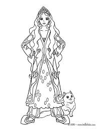 persian princess coloring pages hellokids