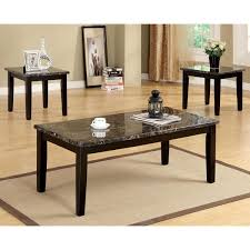 Marble Top Sofa Table by Furniture Of America Dartford 3 Piece Faux Marble Top Accent Table