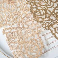 wedding invitations glitter gold foil pressed glitter laser cut wedding invitations