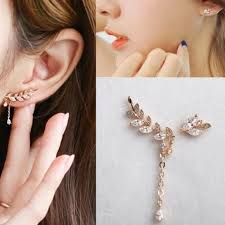 how to make clip on earrings fashion charm gold leaf clip on earrings boutique clip