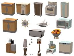 modern kitchen items ts3 to ts4 mid century modern kitchen marvels updated sims 4