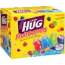 huggie drinks hug fruit drink barrels original variety pack 8 fl oz 40