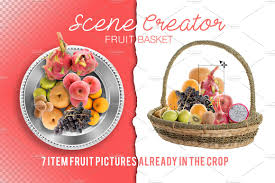 fruit basket scene creator fruit basket product mockups creative market