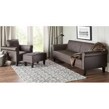 10 spring street ashton faux leather sofa bed walmart com