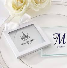 wedding coasters favors personalized glass coaster wedding favors custom wedding coasters