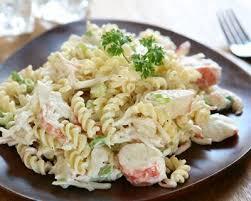 cuisiner le surimi recette salade de pâtes au surimi