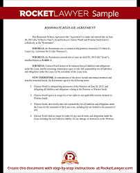 free roommate agreement template roomate release form roommate release agreement with sample