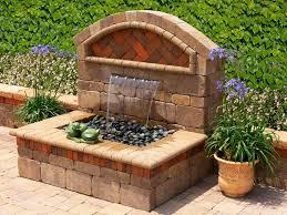 Garden Walls Ideas by Outdoor Wall Fountain Designs Outdoor Garden Wall Fountains Design