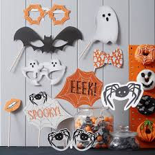 spooky halloween themed party photo booth props by ginger ray