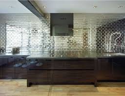 mirrored kitchen backsplash mirrored subway tile kitchen backsplash ideas