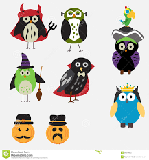Halloween Owl Clipart by Spooky Halloween Owls Stock Vector Image 58318822