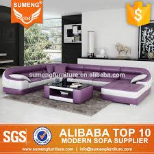 Purple Corner Sofas Fashionable Round Shape Modern New Design Corner Sofa Corner Sofa