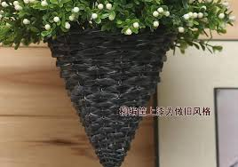 Artificial Plants Home Decor Artificial Flower Set Flower Basket Willow Basket Hanging