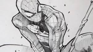 drawing spiderman with 2b graphite pencil youtube