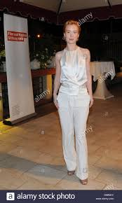 german actress franziska petri arrives for a cocktail party of