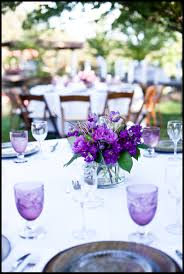 decorating ideas outstanding purple and white wedding table