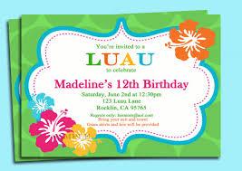 luau birthday invitations templates ideas invitations ideas