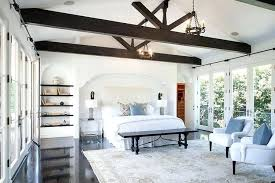 vaulted ceiling beams vaulted ceiling beams white bedroom with dark wood beam ceiling